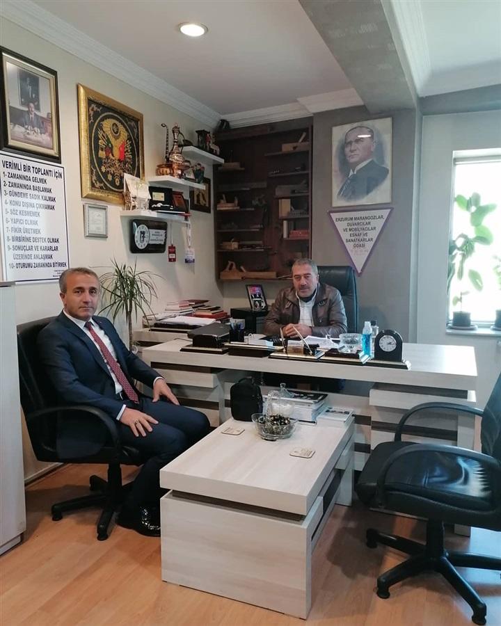 İl Müdürümüz Muhammet GÜNEŞ Mobilyacılar Odası Başkanı Murat NOHUTÇU'yu ziyaret edip pandemi süreci ve esnaf sorunları üzerine konuşuldu.